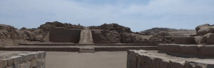 De ruïnes van Pachamac.
