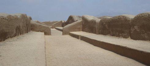 Zand labyrinth. Chan Chan ruïnes
