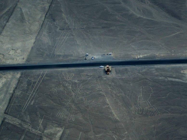 Kijk die micro autootjes! Nazca