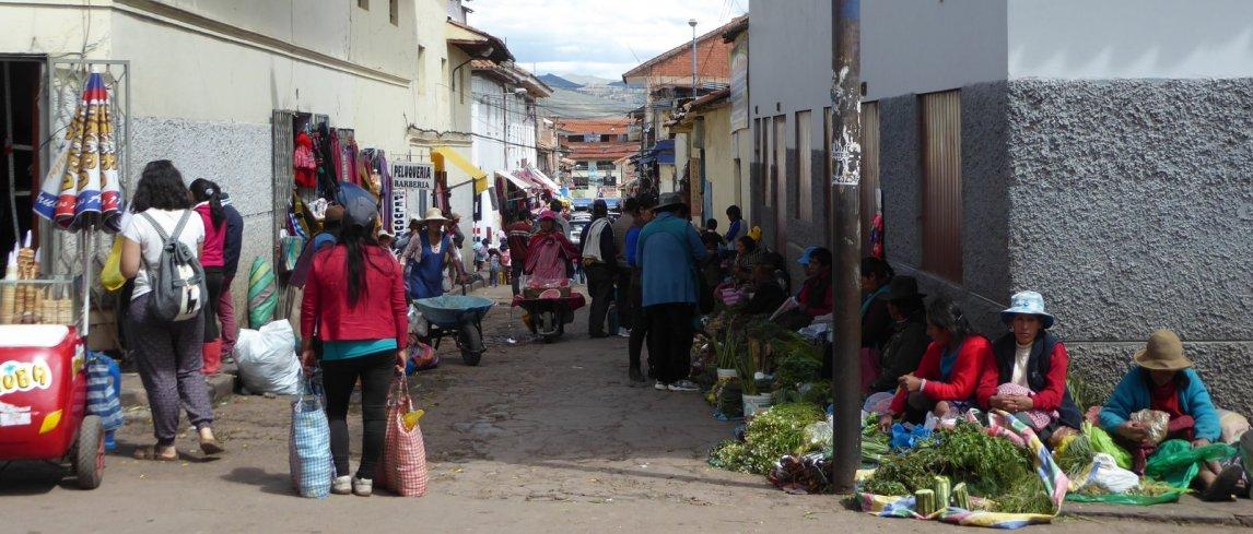 Straatmarktje. Cusco