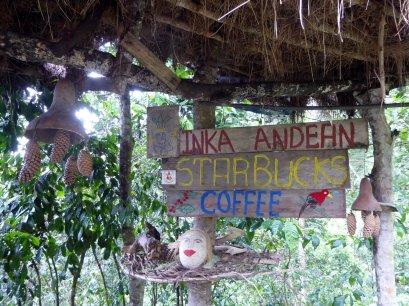 Starbucks!!! Onderweg naar Machu Picchu