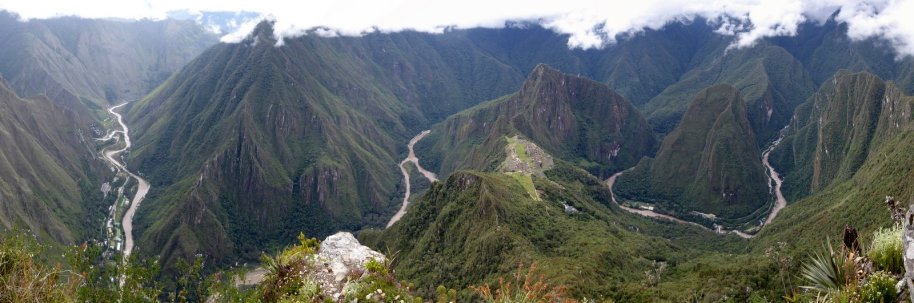 Machu Picchu en omgeving vanaf de Montaña.