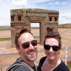 Hep'ie us bij de Puerta del Sol. Tiwanaku ruïnes