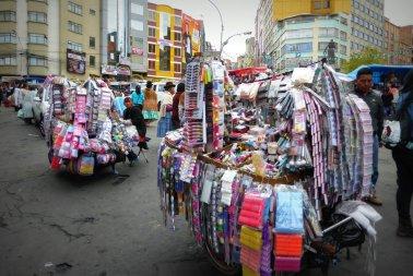 De make-up markt. La Paz
