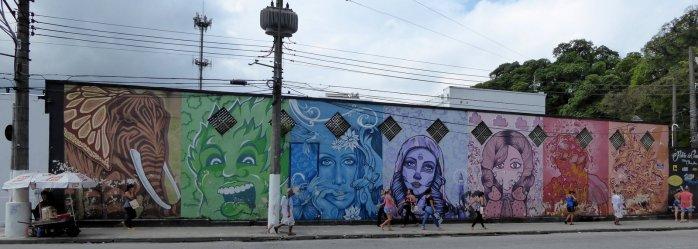 Street-art. Santos, Brazilië