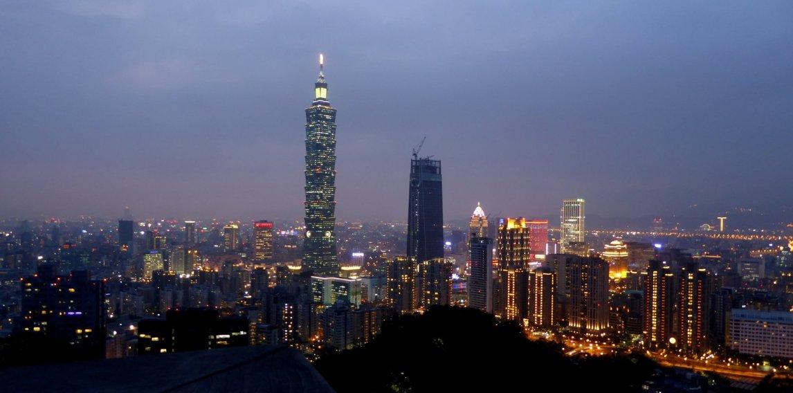 Taipei 101 by night. Taipei