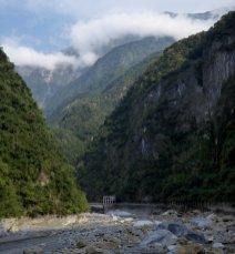 Mistige bergjes. Taroko gorge