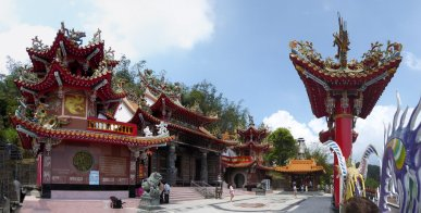 Longfeng temple. Sun & Moon lake