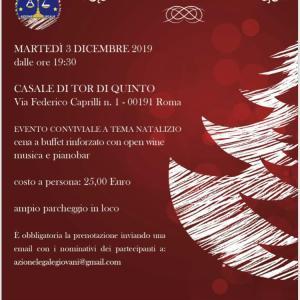3 dicembre 2019 – Cena di Natale di Azione Legale al Casale di Tor di Quinto