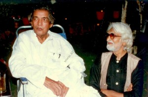 Kaifi and MF Husain