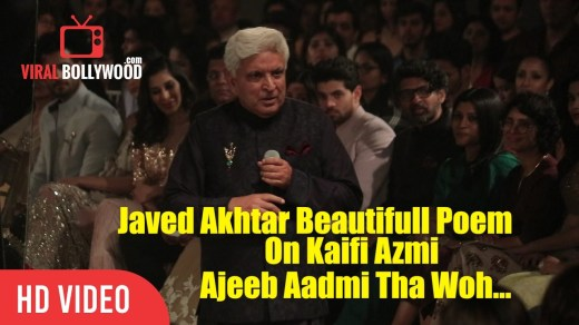 Javed Akhtar Beautiful Poem On Kaifi Azmi | Ajeeb Aadmi Tha Woh…