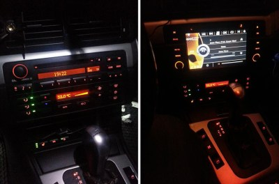 Car Audio System - Before & After Touchscreen