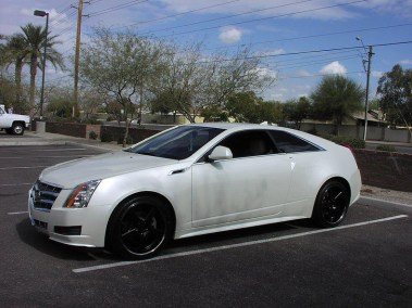 Customized Cadillac CTS in White