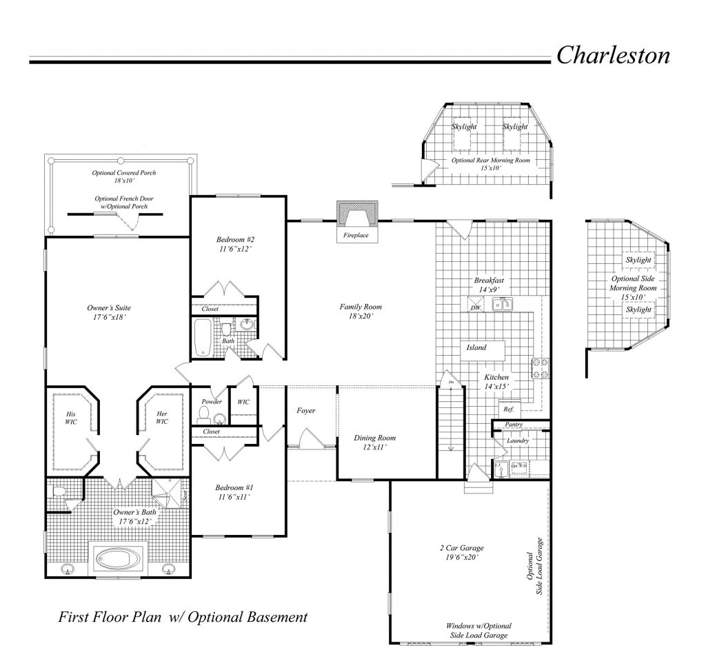 Classic Home Floor Plans Luxury House Illustration Home