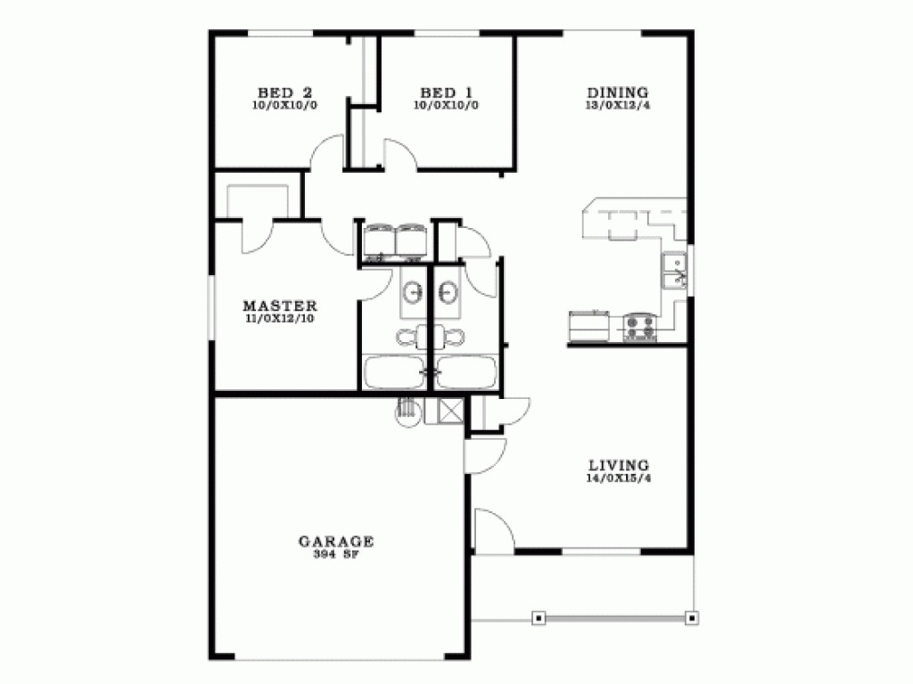 Small Bungalow House Floor Plan Philippines