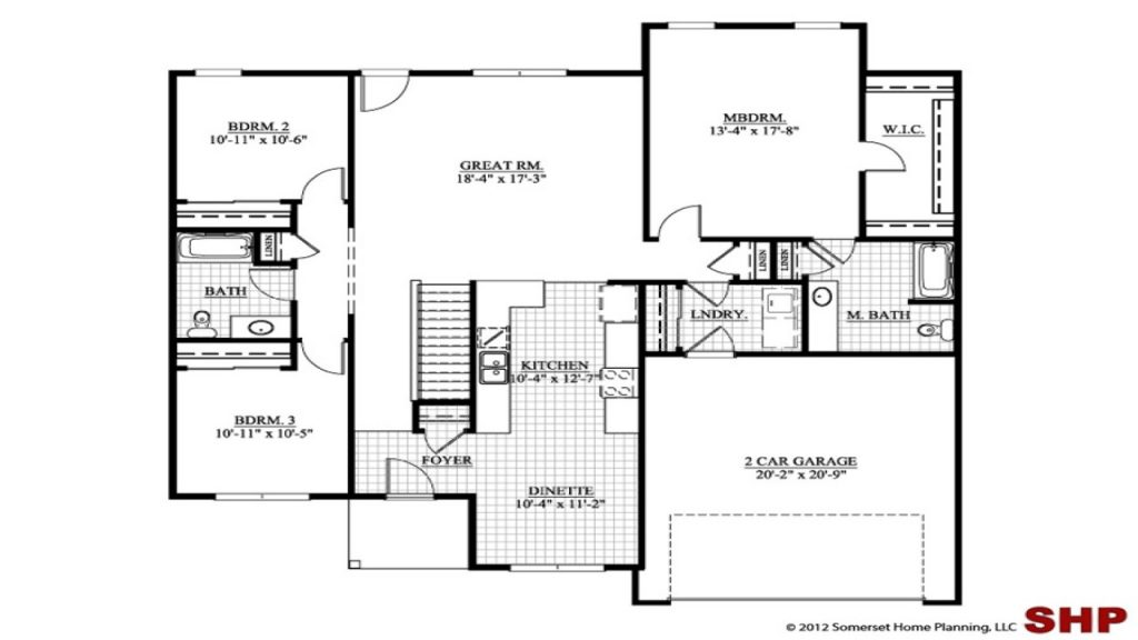 Simple ranch house plans no garage for House plans with no garage