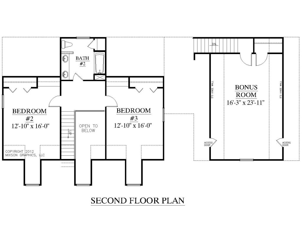 Awesome House Plans With Two Bedrooms Downstairs