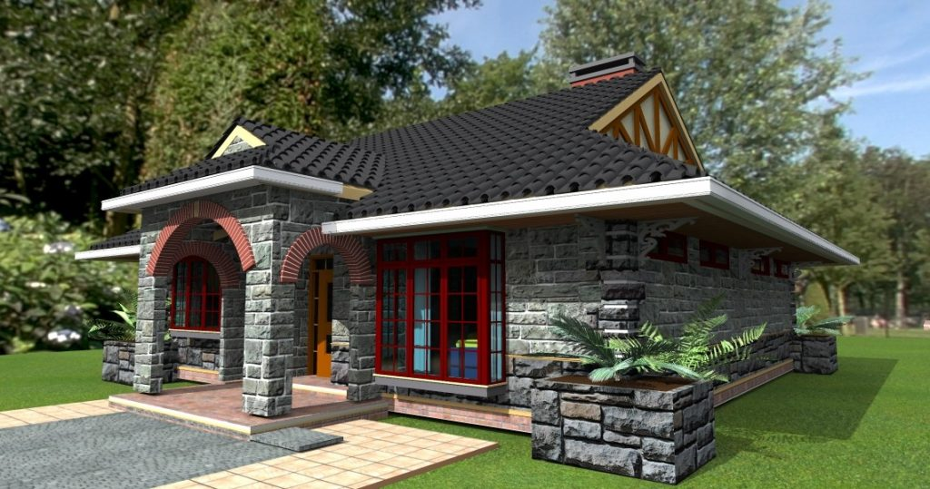 Design of two bedroom house in kenya