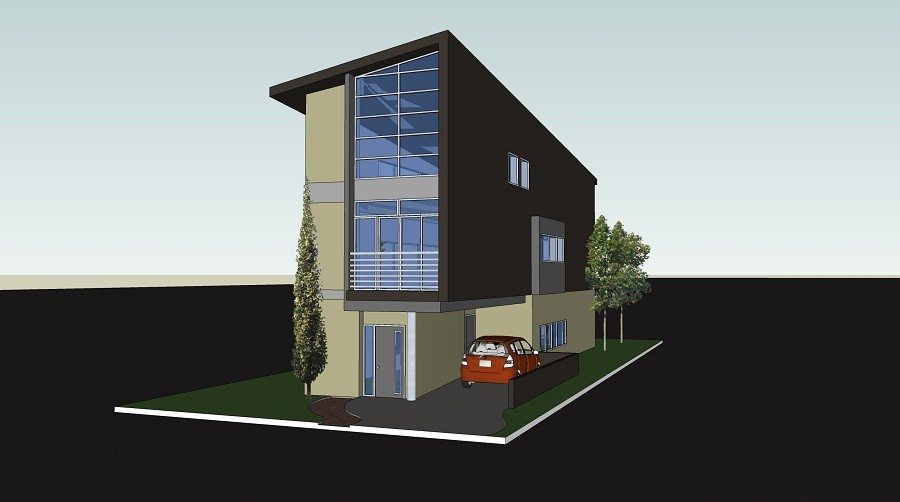 Luxury Narrow Lot Modern Infill House Plans New Home Plans Design