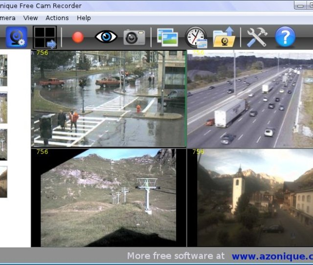 You Click On Azonique Free Cam Recorder And You Will Have Immediately All Video Monitoring And Surveillance Options Available