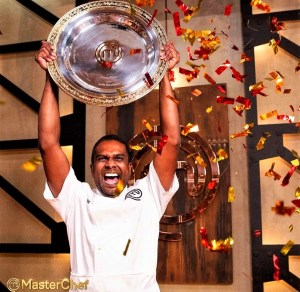 Sashi Cheliah MasterChef Australia 2018 winner trophy plate congratultions TV Ten photo cooking competition show series