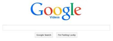 Google Videos search engine logo colours feeling lucky