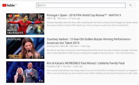 Top 3 trending YouTube videos 16June2018 #1 World Cup in Russia Portugal v Spain #2 Courtney Hadwin AGT #3 Kim & Kanye fast money