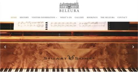 Beleura website menu music Stuart & Sons piano pages