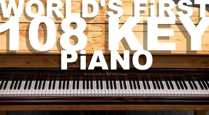 The first 108 KEY PiANO built in the World by Stuart & Sons in Australia