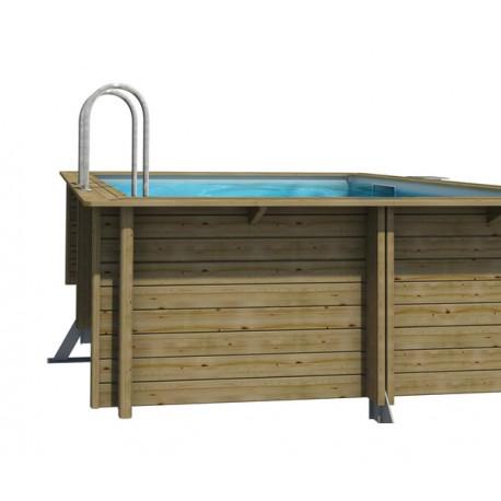 piscine bois carre en pin weva 3m x 3m x h 1 20m
