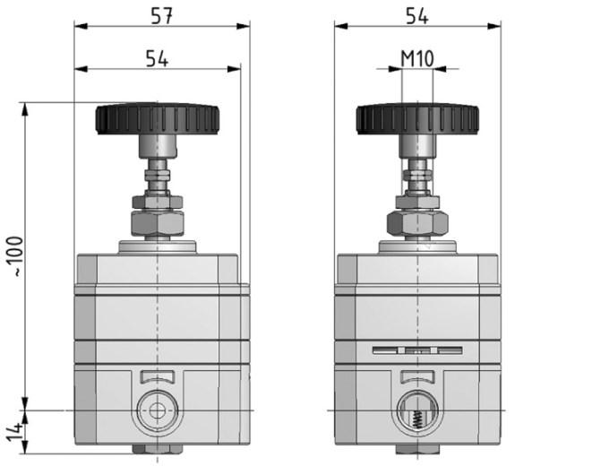 "Precision regulator G1 / 4 ""0.1-8 bar"