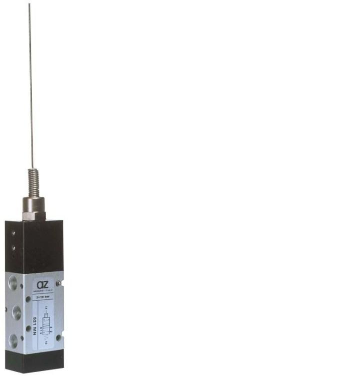 """5/2 1/8"""" antenna servopilotata, ritorno a molla"""