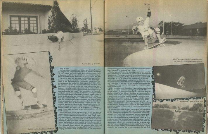 Shelton, lower left corner 1985 Thrasher Magazine