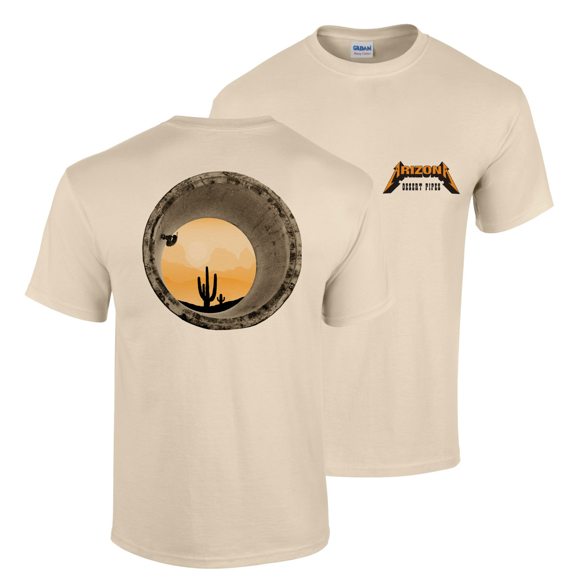 PING! Desert Pipes T-shirt Series No. 1