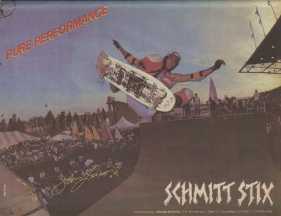 Lucero floating one over the channel. One of my favorite shapes and graphics from Schmitt Stix. They were putting out some killer decks in the mid-to late 80's. Photo: Grant Brittain