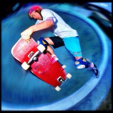 Reese Simpson.. Fakie Thruster Del Mar Skate Ranch Keyhole1986 Photo: Grant Brittain