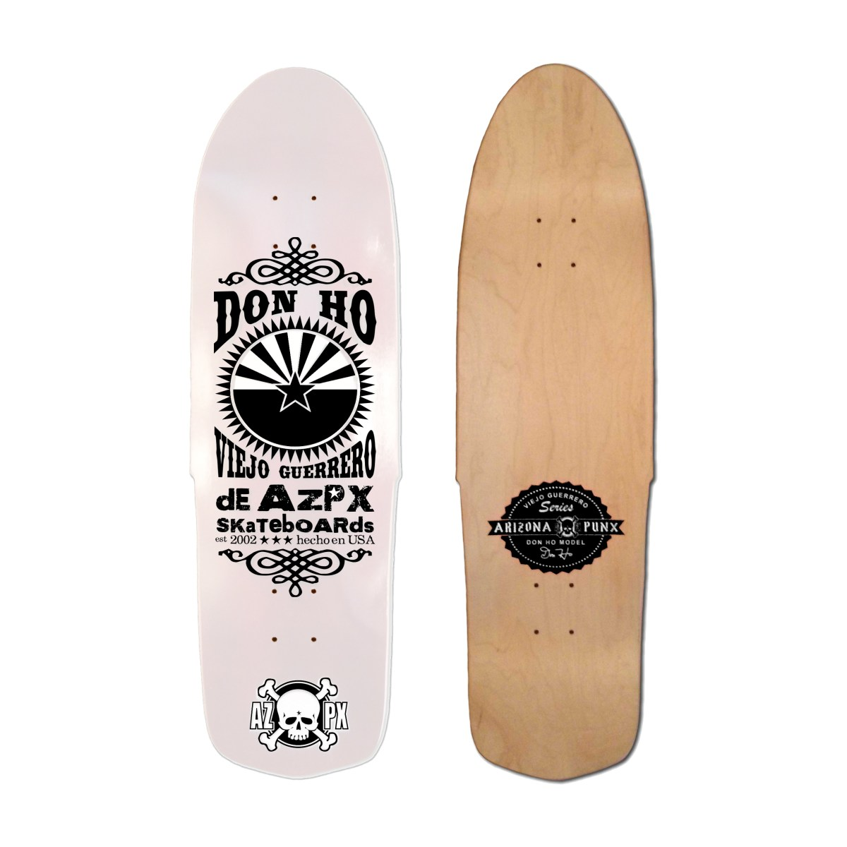 Don Ho Viejo Guerrero Series 'Pearly White' Deck