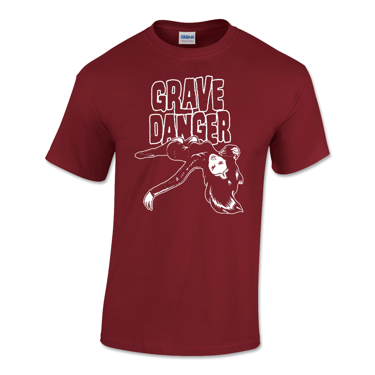 Grave Danger Mens T-shirt Cardinal Red