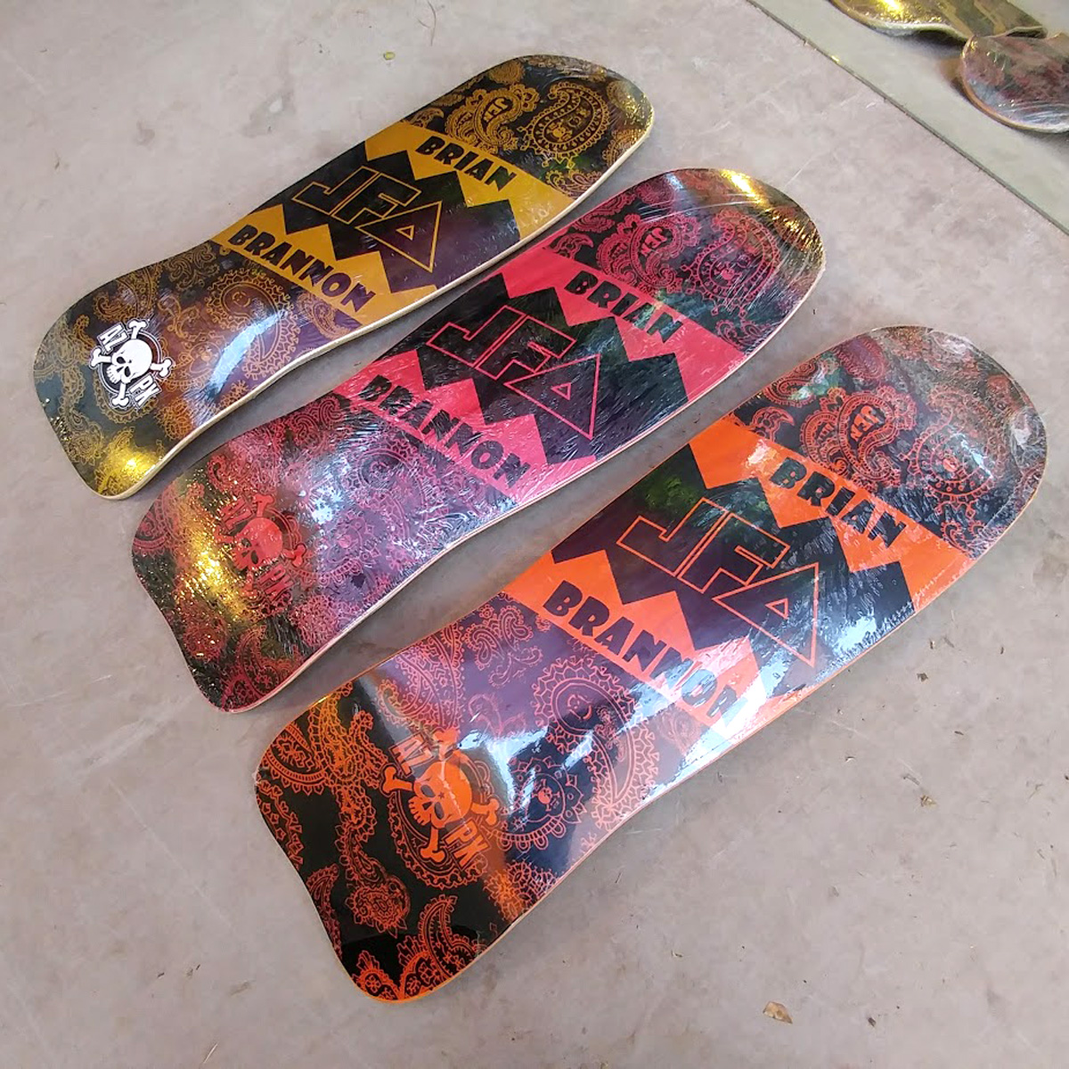 Brian Brannon Signature Model 3 Deck Bundle RARE!