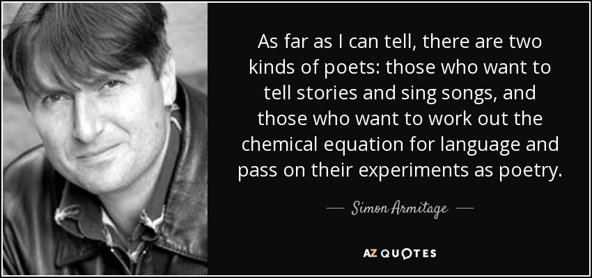 Image result for poems by simon armitage