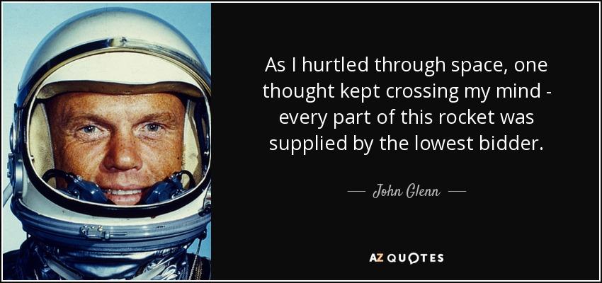 Image result for john glenn lowest bidder