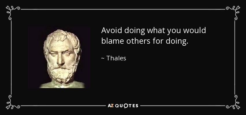 Image result for image of thales golden rule