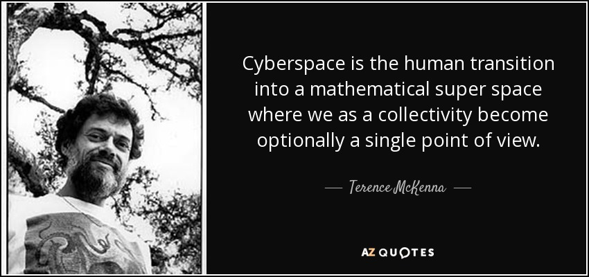 Image result for cyberspace is the human transition