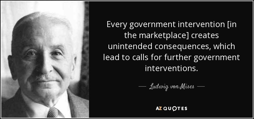 Image result for quotes on government intervention