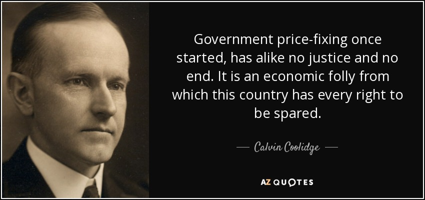Image result for image of government price fixing