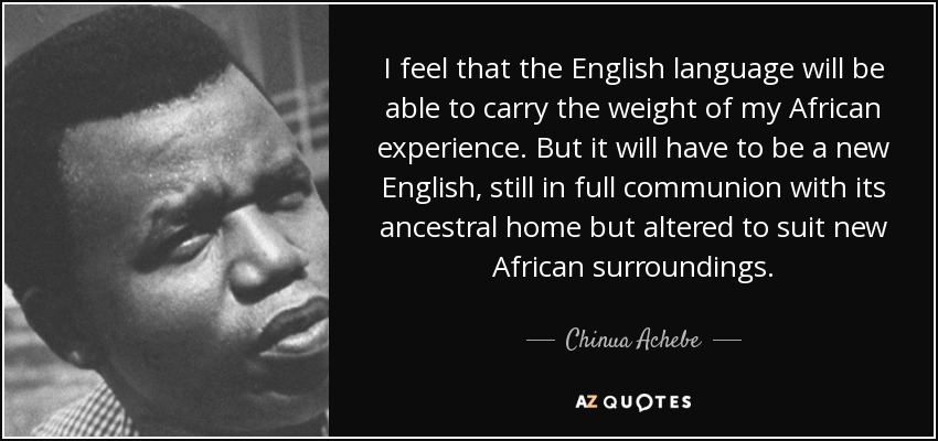 Image result for english chinua achebe