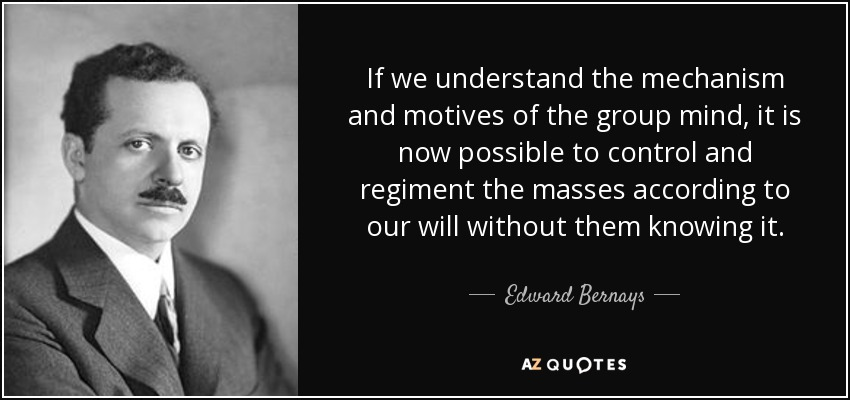 Image result for control the masses quote