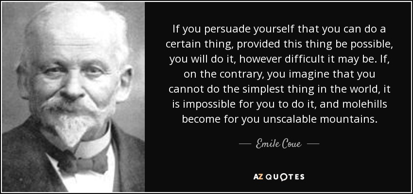 Image result for emile coue quotes