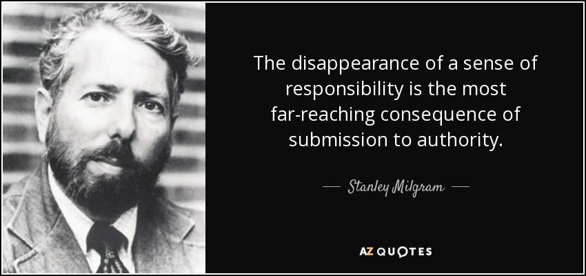 Image result for milgram quotes