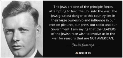 lindbergh anti semitism